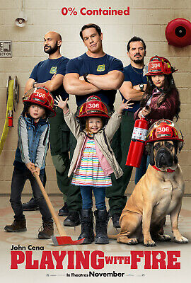 Playing With Fire - original DS movie poster 27x40 D/S - John Cena - 2019
