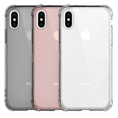 Shockproof Bumper Clear Silicone Case Cover For iPhone 11 Pro Max XR XS 7 8 Plus