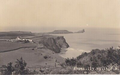 f wales welsh old antique  postcard collecting rossily village near swansea