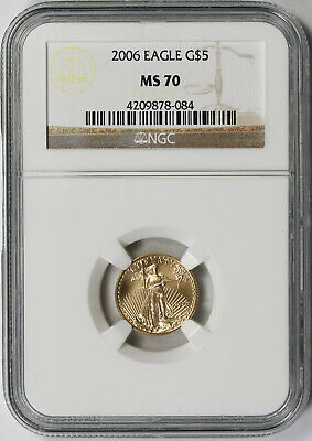 2006 Gold Eagle $5 Tenth-Ounce MS 70 NGC 1/10 oz.