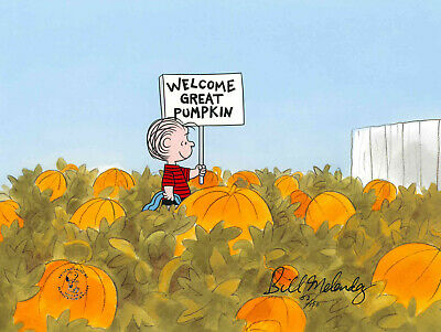 "Charlie Brown ""Welcome Great Pumpkin!"" PEANUTS Ltd Ed Cel HALLOWEEN UF CERT"
