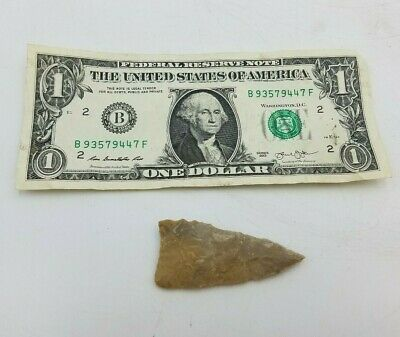 "2-1/2"" Arrowhead Spear Primitive Hunting Stone Tool Native American Indian Relic"