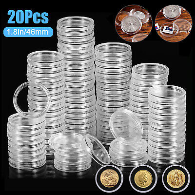 20PCS 19 - 39mm Coin Capsules - 1 oz Silver or Copper Rounds 46mm