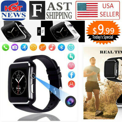 X6 Curved Screen Bluetooth Smart Watch Phone Mate for Samsung/iPhone/Android USA