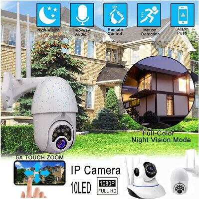 WIFI IP Camera Wireless CCTV HD Smart Home Security IR Night Vision Cam 1080P UK