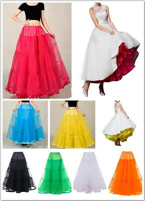 "AU SELLER 40"" Long Underskirt 50s Rockabilly Bridal Petticoat Dance Tutu da032"