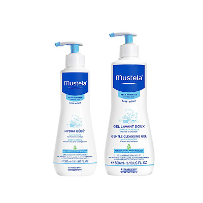 Mustela Bathtime Gift Set, Baby Skin Care Available for Normal, Dry, Sensitive,