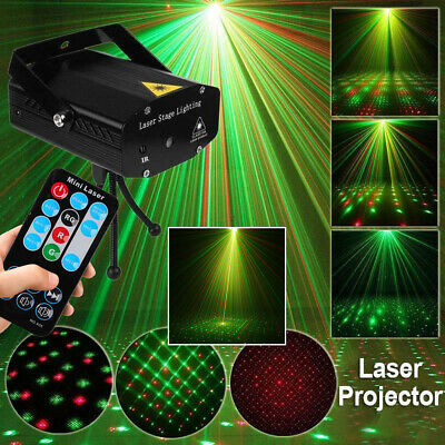 LED Stage Lighting Mini R&G Laser Projector Disco Party Club DJ Light AU Stock