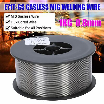 Gasless Mild Mig Welding Wire Reel Spool Roll Cored No Gas 1KG Stainless Steel