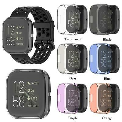 For Fitbit Versa 2 Ultra-thin Soft TPU Protector Shell Silicone Case Cover