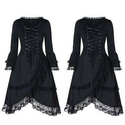 Christmas Cosplay Women's Victorian Gothic Lace Dress Steampunk Corset  Costume