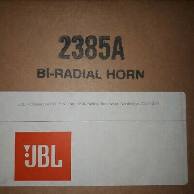 JBL 2385A Biradial horn new in box 2 inch incl bolts