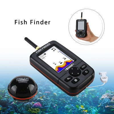 "EYOYO 2.8 /"" Sunlight Readable Screen Fish Finder 45M kabelloser Echolot"