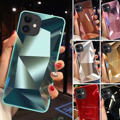 Diamond 3D Bling Mirror Case for iPhone 11 Pro Max X XR XS Phone Silicone Cover
