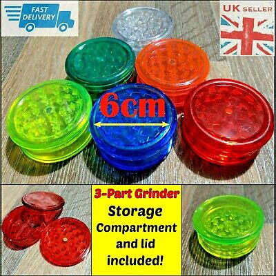 Dry Herb Grinder Smell Proof Stash Crusher Pot Plastic Rolling Air Tight Mill Uk