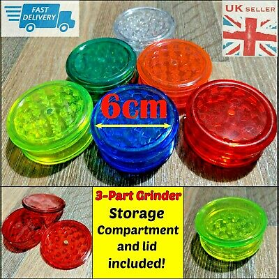 Magnetic 60mm 3 Part No1 Grinders Plastic Dry Herbs Shark Teeth Tobacco Storage