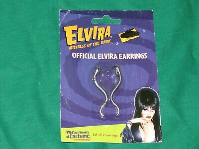 g4 Elvira Mistress of the Dark Pair of Costume Snake Earrings NEW MINT ON CARD