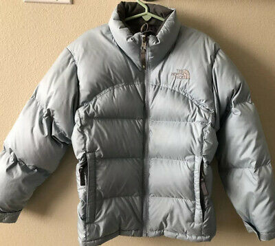 North Face Puffer Jacket Girls Light Blue Size Small/Petite