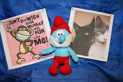 SMURFS GUTSY SMURF NEW WITH TAGS 23cm 9 INCH LICENSED PLUSH TOY DOLL