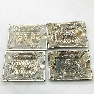 Antique Japanese Silver Plated Cigarette Ashtrays