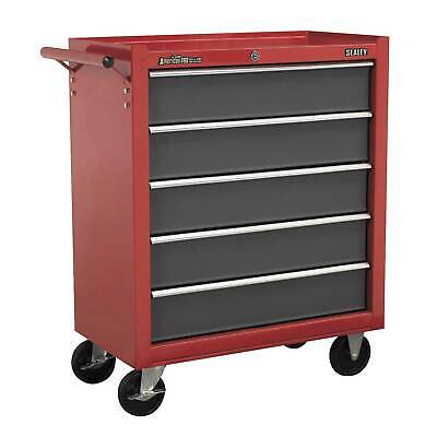 Sealey Rollcab 5 Drawer with Ball Bearing Runners - Red/Grey - AP22505BB