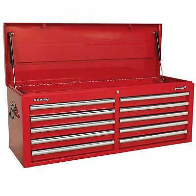 Sealey Topchest 10 Drawer with Ball Bearing Runners - Red - AP5210T