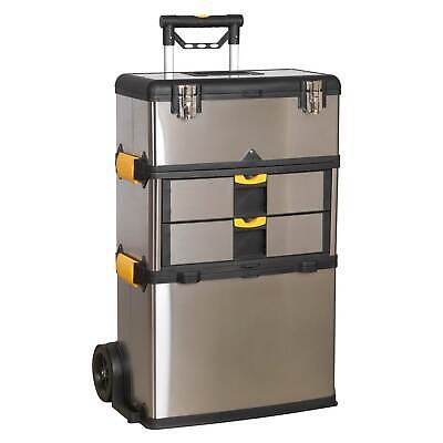 Sealey Mobile Stainless Steel/Composite Tool Box - 3 Compartment - AP855