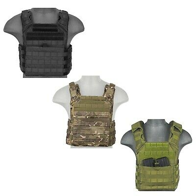 Lancer Tactical MOLLE Plate Carrier Speed Vest Double Mag Pouch Padded Airsoft