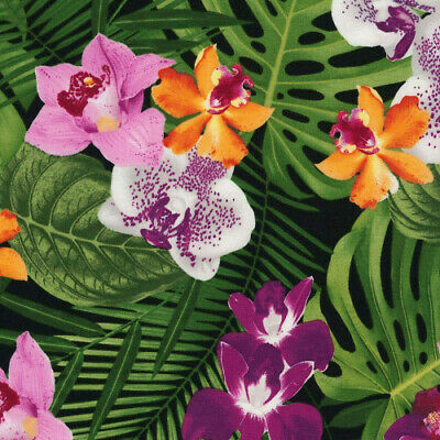 Timeless Treasures Tropical Fonds Island C5437 100/% cotton fabric by the yard