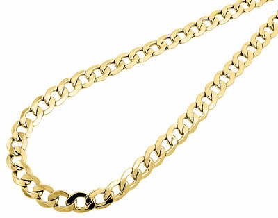 14k solid yellow gold hollow curb chain necklace lobster 3.10grams #3127 20 inch