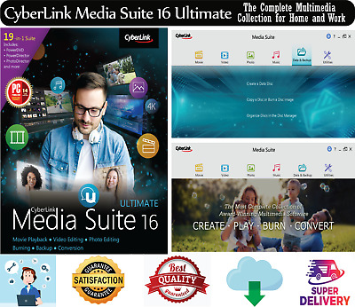 CyberLink Media Suite 16 Ultimate🔥The Complete Multimedia Collection🔥Windows