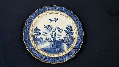 """Booths Real Old Willow Blue #A8025 Luncheon Plate 9 1/2"""" MINT Hard to Find"""
