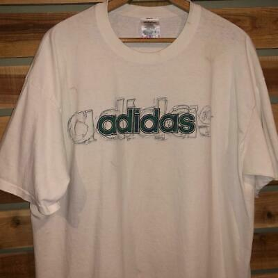 VINTAGE 90S ADIDAS Logo T Shirt Men's Size XL VTG Impossible