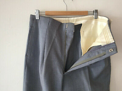 ORIGINAL VINTAGE HOLLYWOOD WAIST DEADSTOCK 1940S MEN'S WOOL PANTS W34 x 30
