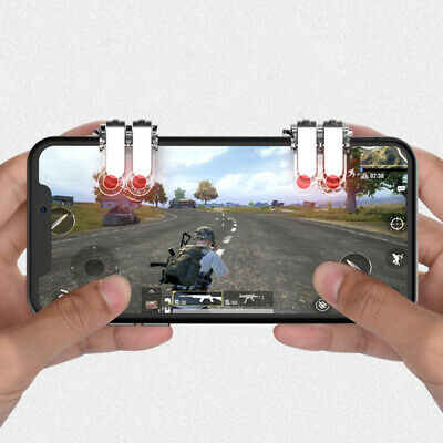 2PCS PUBG Game Controller Gamepad Joystick Fire Trigger for IOS Android Phone