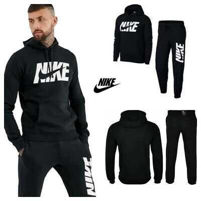 Nike Mens Full Tracksuit Air NSW Fleece Hooded Jogging Bottms Joggers - S M L XL