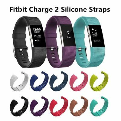 2 Size Replacement Silicone Wrist Sports Band Strap For Fitbit Charge 2 Straps