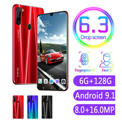 "P35 Pro 6.3"" Drop Screen 6+128G 4800mAh Android 9.1 Smartphone Dual SIM Touch"
