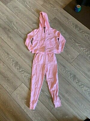 Girls Pink Polo By Ralph Lauren Tracksuit - Bottoms & Hoodie - Vgc Age 6