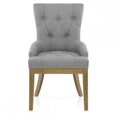 Knightsbridge Antiqued Oak & Fabric Dining Chair