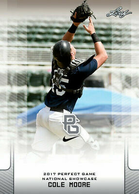 Leaf COLE WILCOX 20171ST EVER PRINTED PERFECT GAME ALL-AMERICAN ROOKIE CARD GEORGIA BULLDOGS!