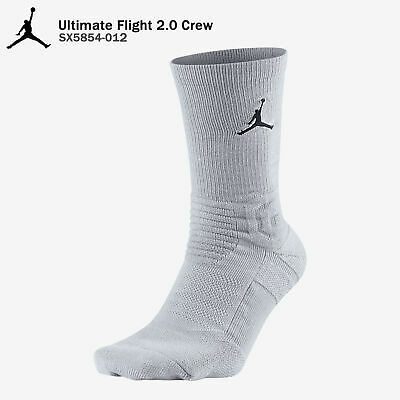 Jordan Flight Jumpman Cushioned Crew Socks Black White Dri-Fit Nike SX5854-010