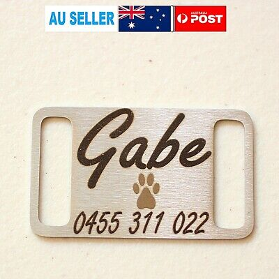 Personalised Engraving Dog Cat Pets Tags Large Stainless Steel Paw Pet Tag