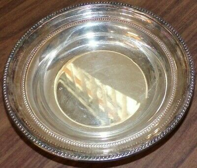 Towle Silverplate Round dots Bon Bon Candy Side Dish 7 1/4""