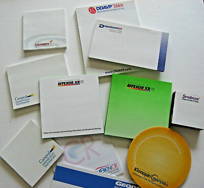 Pharmaceutical DRUG REP POST-IT, NOTE PADS & SHEETS VARIED -OFFERS CONSIDERED