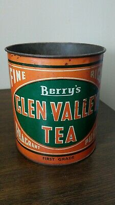 Vintage Berry's Glen Valley 2 Lb Tea Tin