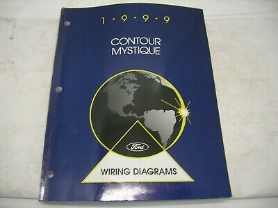 1999 FORD CONTOUR & MERCURY MYSTIQUE Electrical Wiring Diagram Manual EWD OEM