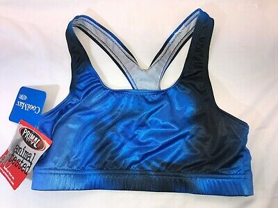 NWT Women's Primal Wear Curl Up Sports Top Cyclists Bicyclists Blue Black Large