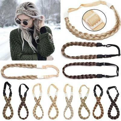 Elastic Synthetic Chunky Hair Braid Hair Headbands Plaited Braided Headband UK