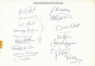 WOLVES 1969/1970 Original Hand Signed Sheets x 25 Autographs